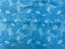 100% Cotton - Boundless - Turquoise Leaf All Over