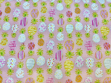 100% Cotton - Pink Pineapple Party