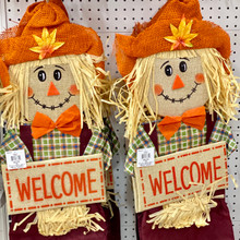 "Harvest - ""Welcome"" Hanging Scarecrow"