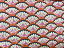 100% Cotton - Pink/Coral Scallop