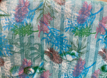 100% Cotton - Multi Sealife on Blue Stripe