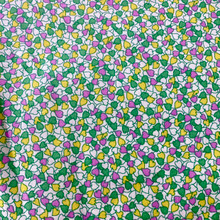 100% Cotton - Tiny Hearts - Pink, Green & Yellow