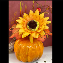 Harvest - Pumpkin with Sunflower