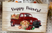 "Harvest - ""Happy Harvest"" Sign"