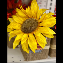 Harvest - Burlap Sunflower Pot - Yellow