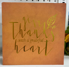 "Harvest - ""Give Thanks with a Grateful Heart"" Block Sign"