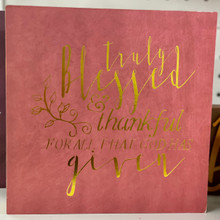 "Harvest - ""Truly Blessed and Thankful for All that God has Given"" Block Sign"