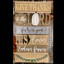 "Harvest - Large ""Give Thanks"" Sign"