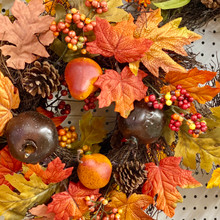 Harvest - Fall Leaves & Pomegranates Wreath