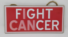 "Breast Cancer Awareness - ""Fight Cancer"" Sign"