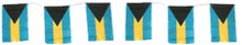 Bahamas Flags on a String