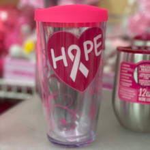 "Breast Cancer Awareness - ""Hope"" Tumbler"