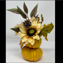 Harvest - Fall Floral Pumpkin Pot