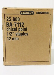 """Bostitch #71 Upholstery Staples - 3/8"""" crown - 25,000ct"""