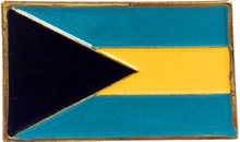 Pin - Bahamas Flag - Straight