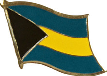 Pin - Bahamas Flag - Wavy