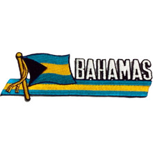 Patch - Bahamas Flag with Stripes