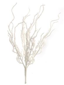 """18"""" Glitter Twig Bush - White Iridescent"""