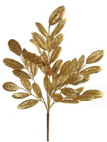 "20"" Glitter Magnolia Leaf - Gold"