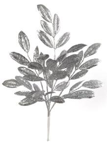 "20"" Glitter Magnolia Leaf - Silver"