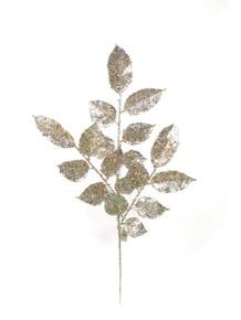 "20"" Glitter Salal Leaf - Gold & Silver"