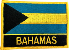 Patch - Bahamas Flag with Text