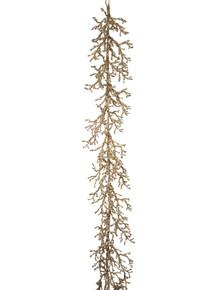 Garland - Iced Twig 5' - Gold