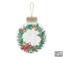 Ornament - Holly Wreath for Personalization