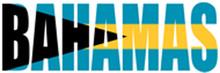 """Bahamas"" Flag Bumper Sticker"