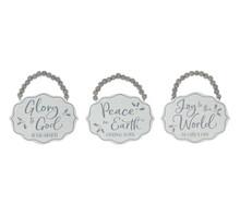 Ornament - Scalloped Wood - Grey & White