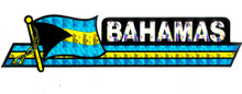 Sticker - Holographic Bahamas Flag with Stripes