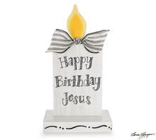 Shelf Sitter - Happy Birthday Jesus Candle