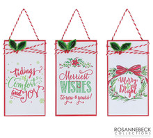 Ornament - Gift Tag Christmas Wishes
