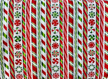 100% Cotton - Peppermint Candy Strips
