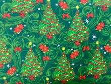 100% Cotton - Oh Christmas Tree - Emerald