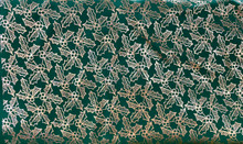 Christmas - Holly All Over - Emerald & Metallic Gold