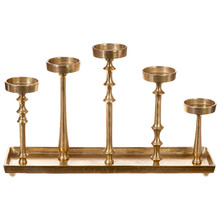 "21.5"" Candle Holder - Gold"