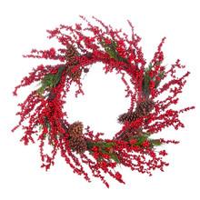 """Wreath - 32"""" Berry & Pinecone"""