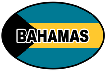 Bahamas Oval Bumper Sticker