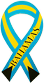 Bahamas Ribbon Car Magnet
