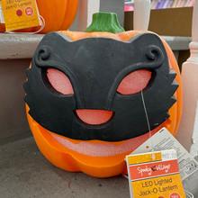 LED Lighted Jack'O'Lantern Cat Face