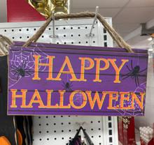 Sign - Happy Halloween - Purple
