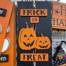 Sign - Trick or Treat - Pumpkins