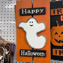 Sign - Happy Halloween - Ghost