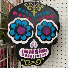Wall Hanging - Dia De Los Muertos Skull - Black