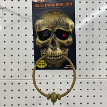 Animated Skull Door Knocker - Bronze
