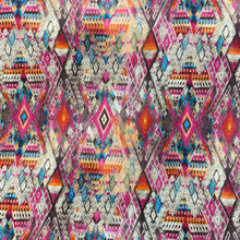 Stretch Knit - Pink & Orange Bohemian Tribal