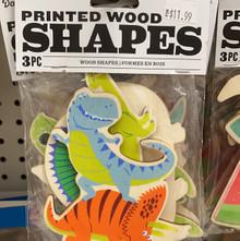 Printed Wood Shapes - Dinosaurs