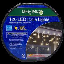 LED Icicle Lights - Warm White