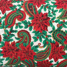 Christmas - PolyCotton - Poinsettia Paisley